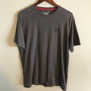 Under Armour L loose heat gear t shirt steel gray